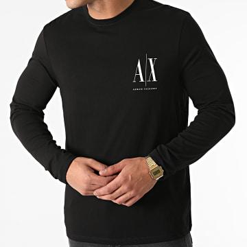 Armani Exchange - Tee Shirt Manches Longues 8NZTPL-ZJH4Z Noir