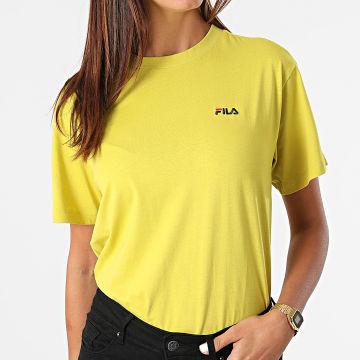 Fila - Tee Shirt Femme Efrat Vert Jaune