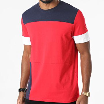 Fila - Tee Shirt Pagan Blocked 683456 Rouge Bleu Marine Blanc