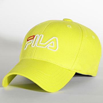 Fila - Casquette Outline Logo Jaune Fluo