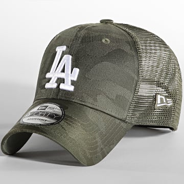New Era - Casquette Trucker 9Forty Home Field Los Angeles Dodgers Vert Kaki Camouflage