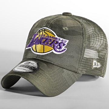 New Era - Casquette Trucker 9Forty Home Field Los Angeles Lakers Vert Kaki Camouflage