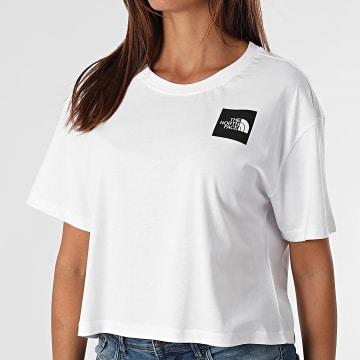 The North Face - Tee Shirt Femme Crop Fine Blanc