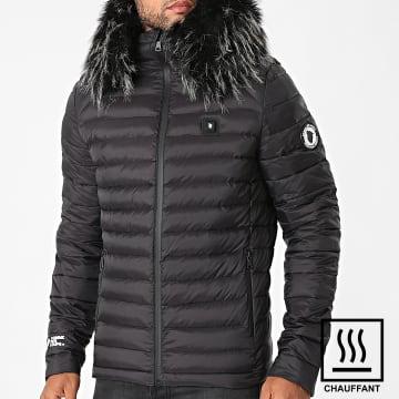 Comme Des Loups - Doudoune Chauffante Capuche Ottawa Premium Noir
