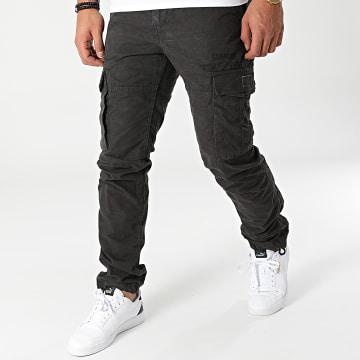 Deeluxe - Pantalon Cargo Tropery Gris Anthracite
