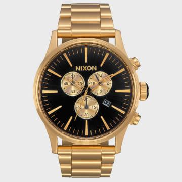 Nixon - Montre Sentry Chrono A386-510 All Gold Black
