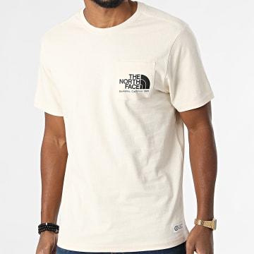 The North Face - Tee Shirt Poche Scrap Berkeley California A55GD Beige