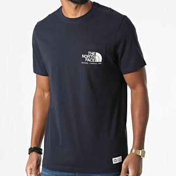 The North Face - Tee Shirt Poche Scrap Berkeley California A55GD Bleu Marine