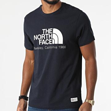 The North Face - Tee Shirt Scrap Berkeley California A55GE Bleu Marine