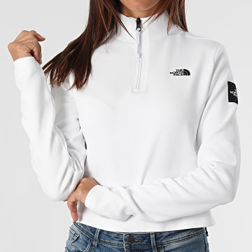The North Face - Tee Shirt Manches Longues Femme Crop A5ICU Blanc