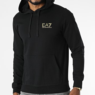 EA7 Emporio Armani - Sweat Capuche 8NPM18-PJ05Z Noir Doré