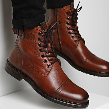 Jack And Jones - Boots Shelby Leather Cognac