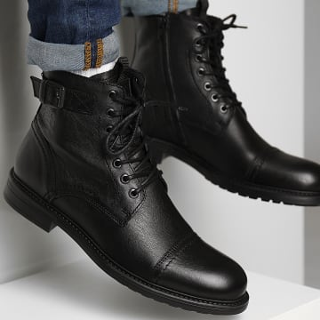 Jack And Jones - Boots Shelby Leather Anthracite