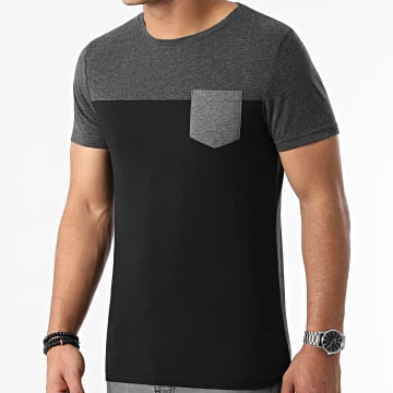 LBO - Tee Shirt Poche 1977 Noir Gris Anthracite