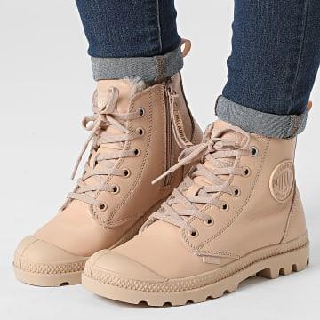 Palladium - Boots Femme Pampa Hi Zip Leather 97223 Nude Light