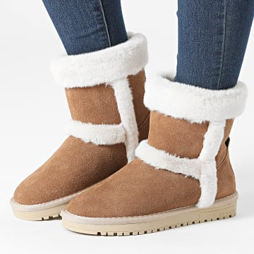 Pepe Jeans - Boots Femme Angel Fold PGS50176 Tobacco
