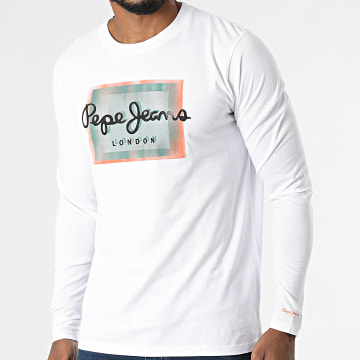 Pepe Jeans - Tee Shirt Manches Longues Wesley PM508032 Blanc