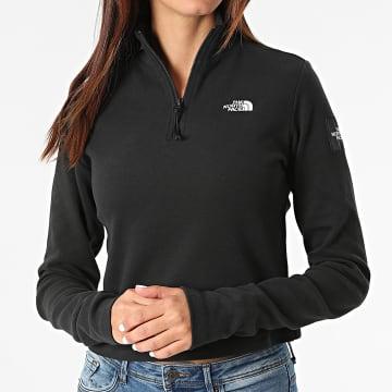 The North Face - Tee Shirt Manches Longues Femme Crop A5ICU Noir