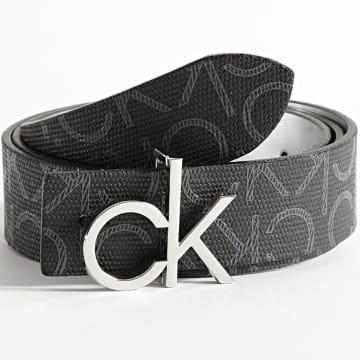 Calvin Klein - Ceinture Réversible Mono Mix CK Logo 8650 Noir Argenté