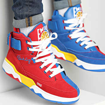 Ewing Athletics - Baskets 33 Hi x Ghost Face 1BM01351 Chinese Red Deep Ultramarine Safety Yellow
