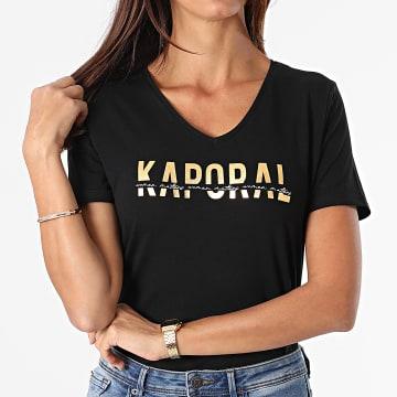 Kaporal - Tee Shirt Femme Dolfi Noir