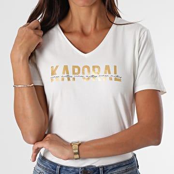 Kaporal - Tee Shirt Femme Dolfi Ecru