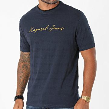 Kaporal - Tee Shirt Leter Bleu Marine