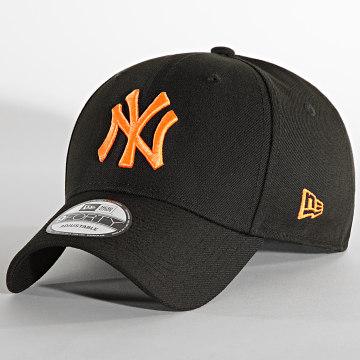 New Era - Casquette 9Forty Pop Logo New York Yankees Noir Orange Fluo