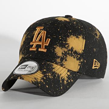 New Era - Casquette Wash Canvas Los Angeles Dodgers Noir Camel