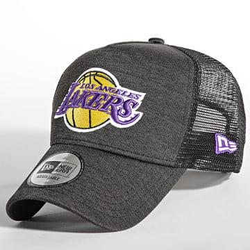 New Era - Casquette Trucker Shadow Tech Los Angeles Lakers Gris Anthracite Noir