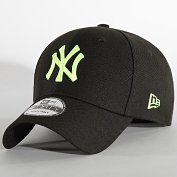 New Era - Casquette 9Forty Pop Logo New York Yankees Noir Vert Fluo