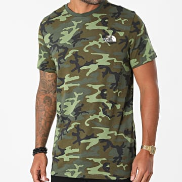 The North Face - Tee Shirt Camouflage Simple Dome A2TX5 Vert Kaki