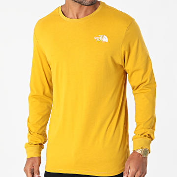 The North Face - Tee Shirt Manches Longues Simple Dome A3L3B Jaune Moutarde