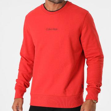 Calvin Klein - Sweat Crewneck Center Logo 7895 Rouge Brique