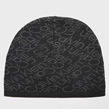 Calvin Klein - Bonnet Zig Zag Monogram 7537 Noir