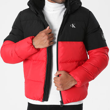 Calvin Klein - Doudoune Capuche 8682 Rouge Noir
