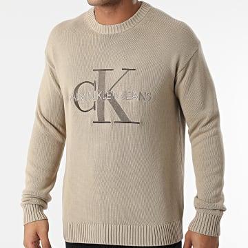 Calvin Klein - Pull Embroidery Monogram 8610 Beige