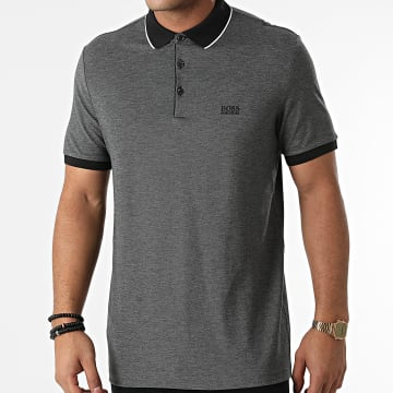BOSS - Polo Manches Courtes 50451446 Gris Anthracite Chiné