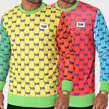Y et W - Sweat Crewneck Réversible Multicolor