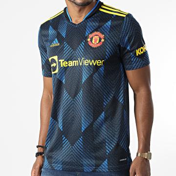 adidas - Tee Shirt De Sport Manchester United GM4616 Bleu Noir