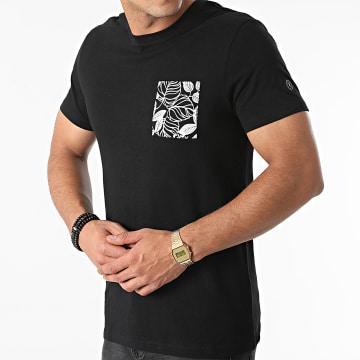 Le Temps Des Cerises - Tee Shirt Poche Milor Noir Floral