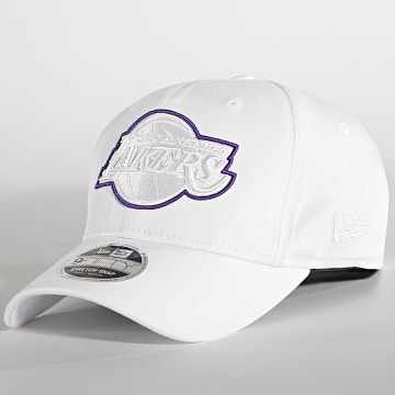 New Era - Casquette Snapback 9Fifty Team Outline Los Angeles Lakers Blanc