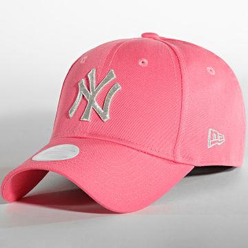 New Era - Casquette Femme 9Forty Metallic New York Yankees Rose