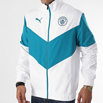 Puma - Veste Zippée Manchester City 764507 Blanc Bleu
