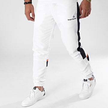 Sergio Tacchini - Pantalon Jogging A Bandes Nelcotan Blanc