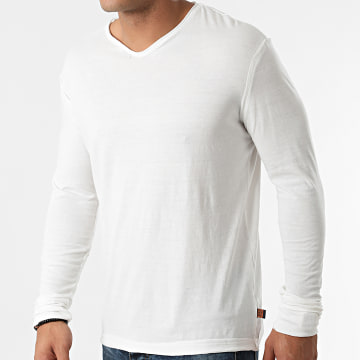 American People - Tee Shirt Manches Longues Taylors 01-506 Blanc