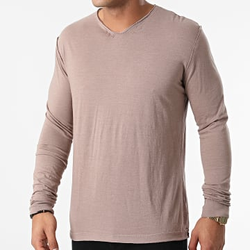 American People - Tee Shirt Manches Longues Taylors 01-506 Taupe