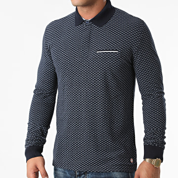 American People - Polo Manches Longues Pactole Bleu Marine