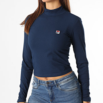 Fila - Tee Shirt Manches Longues Femme Ceyla 688975 Bleu Marine