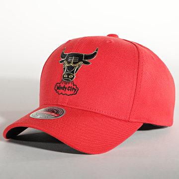 Mitchell and Ness - Casquette Snapback Golden Black Redline Chicago Bulls Rouge